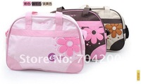 5 sets/lot-Flower Floral embroidery Diaper Bag/Mummy bag with multi-functional /Nursery Nappy Bag