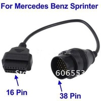 DHL Free shipping for Mercedes Benz 38 Pin to 16 Pin OBD2 Adapter Cable