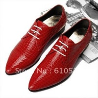 British men shoes men pointed shoes men Korean fashion red shoes men's shoes