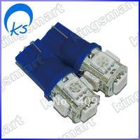 LED auto lamp T10, 1W 5pcs 5050 blue LED color 80423