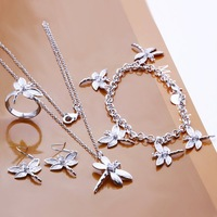 Free shipping 925 Sterling Silver Jewelry set,Factory Price Fashion Jewelry Set S302