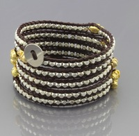 New Arrival,retro jewelry,new vintage Style Bohemia Wrapped bracelet natural wind gem bracelet,adjusted size Free Shipping CL242