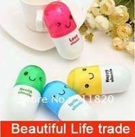 Free Shipping 2012New Creative Vitamin Pill Gift Towel/Promotional Cotton Gift Towel/Travel Towel