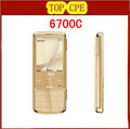 Original 6700 Classic Gold Cell Phone Unlocked GPS 5MP 6700c Russian&amp;Keyboard Original earphone Free Shipping