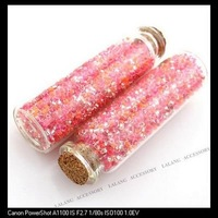 3 pcs New Fashion+ Free Shipping  Wishes bottles with Profuse Color Mini Glass Seed Beads 78*22*22mm 120257