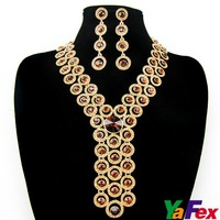 Free Shipping 1set/lot Ladies' Wedding Bridal Fashion Lady Evening Necklace Earring Set WA41-5#