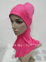 H494a latest design full cotton ninja underscarf,mini hijab,free shipping,fast delivery,assorted colors