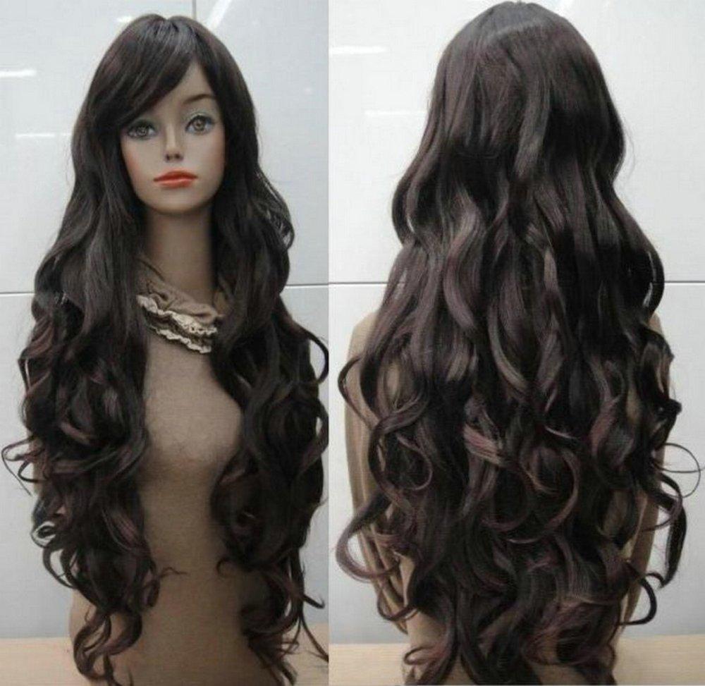 Brown Curly Hair Long Wig 119