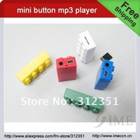 Free shipping,Mini Button Mp3 Player,creative mini mp3 music player ,2G4G8G16G32G for option