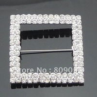Sparkly Double Row Square Chair Sash Buckles-------BU004-11