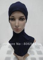 S210b free shipping, comfortable full muslim underscarf,mini hijab hats