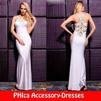 канон спереди короткая длинная спина бисером блестки фиолетовый и розовый выпускные платья шифон партия платье dr01 от