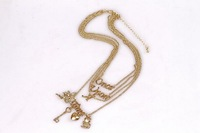 """SP079  """"once upon a time"""" Gold Necklaces four in one set Dresser wholesale/drop shipping free shipping fashion women jewelry"""