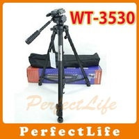 WEIFENG WT-3530 Professional Aluminum Camera Video 3 Way Head Tripod 4pcs/lot A011AB006