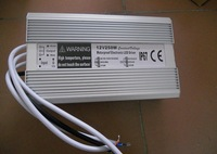 12V/250W IP68 waterproof power supply;size;205*125*45mm;AC90-130V or AC170-250V input