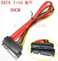 Male to Female 7+15 Pin Serixal ATA SATA Data Cable M/F