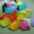 200pcs/lot Acrylic Beads Supplier,Leaf, Made of Acrylic, Assorted,18mm long,11mm wide, 3mm thick, With One Hole Free Shipping