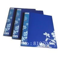 blue white color paper money album volume collection book paper money holder wholesale/retail