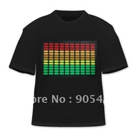 sound disco multi color music activated equalizer el led t -Shirt