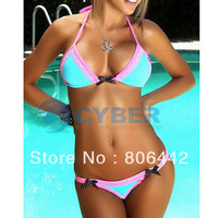 Wholesale 3Pcs/Lot Fashion Sexy Lady Women Lingerie Bikini Set Swimwear Beachwear Free Shipping