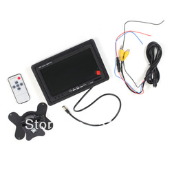 7&quot; TFT Color LCD 2 Video Input Car RearView Headrest Monitor DVD VCR,free shipping Wholesale 8162(China (Mainland))