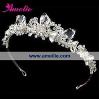 2013 new 1 piece wholesale free shipping Fashion noble pear bridal crown wedding tiara