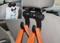 2Pcs/Lot Auto Car Seat Double Hook Clothes Bag Accessories Holder Hanger Free Shipping