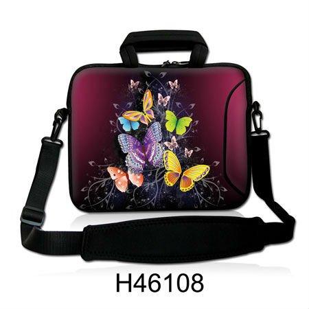 """Forma de borboleta colorida Novel Laptop Case Ombro Neoprene Netbook Bag Para 15 """" 15.4"""" 15.6 """" Acer Lenovo , Frete Grátis(China (Mainland))"""