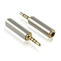 Phone headset adapter 2.5mm to turn 3.5mm adapter 2.5 to 3.5 km turn the mother of small