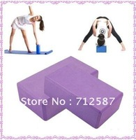2pcs/lot! Yoga Block Purple Foaming Foam Block Home Exercise Tool ~ free shipping#8598