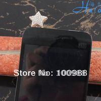 IP074!10pcs/Lot free shipping gold star charm anti dust plug