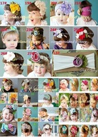 NEWEST HEADBAND, CBRL promotion sell ,infant or kids flower hairband /100%cotton/have 40 kinds of style +EMS /DHL  free shipping
