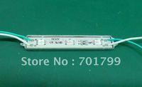 3pcs 5050 SMD LED module,with metal case,GREEN color,DC12V,20pcs a string
