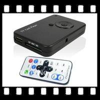 USB HD Remote Control Digital TV Media Player TV Card Reader SD MMC MS MP4 Black