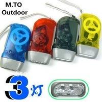Free Shipping / 5pcs/lot / Transparent hand pressure flashlight /LED light  torch environmental flashlight /Dynamo Light  (A008)