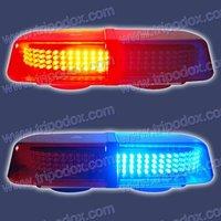 LED Mini-Lightbar red/blue/amber/white LED-2310L2, with multi flash paterns.