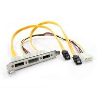 With baffle baffle line of dual-port SATA to ESATA line 4pin power ESATA with power