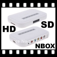 NBOX HD TV SD/MMC Card Flash Hard Drive Disk Media Player Video player with remote control Free Shipping