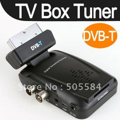 NEW Freeview Digital TV Reciever Tuner Scart Set Top Box DVB T ANALOG TO DIGITAL TV Terrestrial Receiver(China (Mainland))