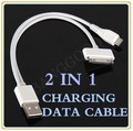 10pcs/lot New 2 in 1 Micro B + USB Sync Charging Data Transfer Cable   Free shipping