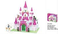 Enlighten Child M38-B0151 Education Dream Castle 508 pcs Compatible With Ligo Assembles Particles Block Toys Free Shipping