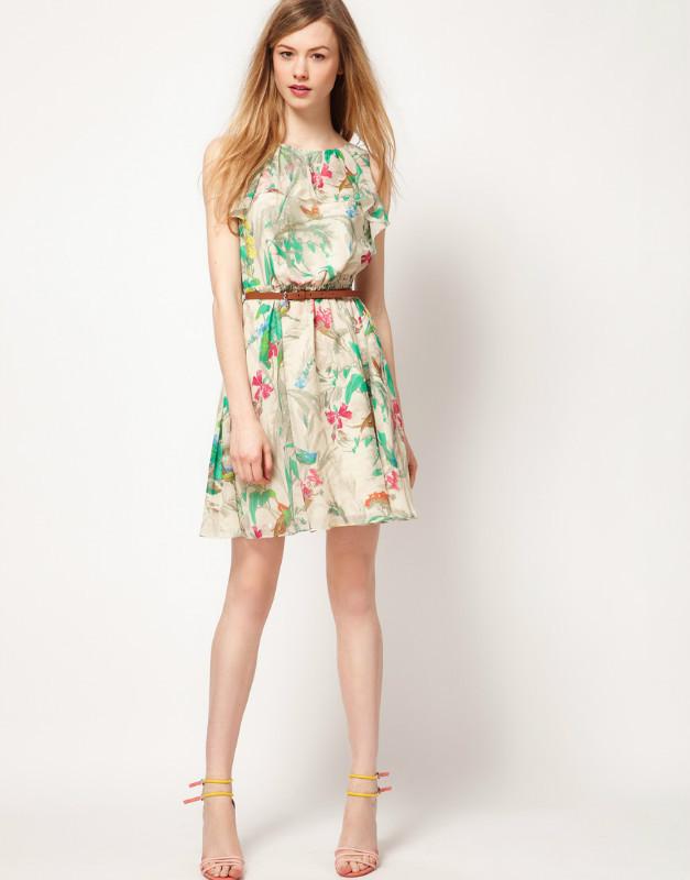 Платье из материала в цветочек сшить