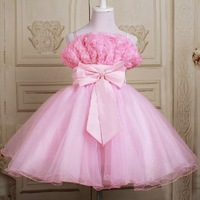 Free shipping! kid party Princess TuTu skirt 2~13T nice flower girl dress cheap child evening perform frocks/gown mixed colors