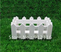 Free Shipping Pastoral Home Furnishing Accessories White Wooden Fence Flower Vases Flower Decoration Photography props