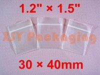 "500 PCS Thicker Ziplock Reclosable Zipper Bags 1.2"" x 1.5""_30 x 40mm"