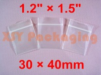 "500 PCS Thicker Ziplock Reclosable Zipper Bags 1.2"" x 1.5""_30 x 40mm"