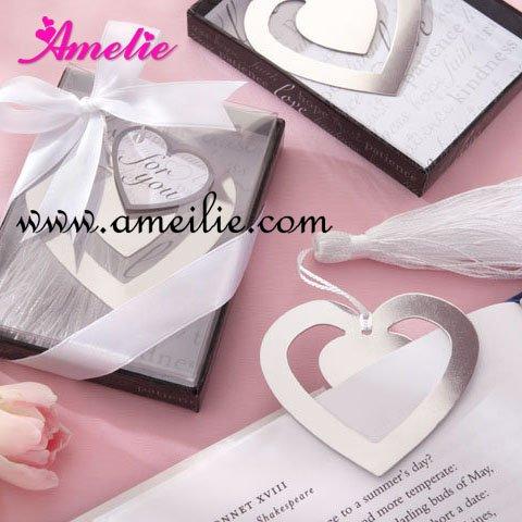 Wholesale Wedding Favors Gifts/ Promotion Metal Bookmark/ Star Silver Bookmark Bridal Favors/ Hot Sell Free Shipment 50pcs/lot(China (Mainland))