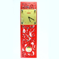 Free shipping wholesale and retail Chinese folk style quiet movement art wall clock/ quartz clock
