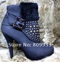 Fashion winter shoes Roman boots fine temperament heels waterproof Taiwan boots
