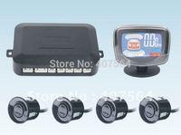 Free shipping Car LCD 4 Reverse Parking Sensors Backup Radar Kit